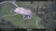 """Archiv Foto Webcam Fassatal - San Pelegrino - Panorama der Skipisten und Aufstiegsanlagen des """"San Pellegrino Pass"""" 08:00"""