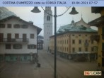Archived image Webcam Cortina d'Ampezzo: Pedestrian zone 02:00