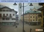 Archived image Webcam Cortina d'Ampezzo: Pedestrian zone 06:00