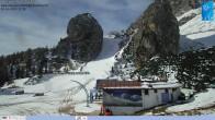 """Archiv Foto Webcam Cortina d'Ampezzo: Berghütte """"Duca d'Aosta"""" und Weltcup-Piste Olympia 06:00"""