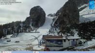 """Archiv Foto Webcam Cortina d'Ampezzo: Berghütte """"Duca d'Aosta"""" und Weltcup-Piste Olympia 08:00"""