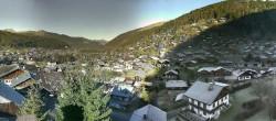 Archiv Foto Webcam Panoramablick über Morzine 04:00