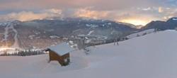 Archived image Webcam Les Gets: Le Mont Chéry 22:00