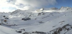 Archiv Foto Webcam Pitztaler Gletscher: Bergstation Gletscherexpress 02:00