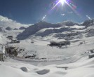 Archiv Foto Webcam Pitztaler Gletscher: Bergstation Gletscherexpress 07:00