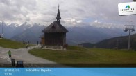 Archived image Webcam Schmittenhöhe: View Chapel 04:00