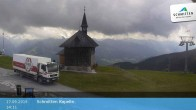 Archived image Webcam Schmittenhöhe: View Chapel 08:00