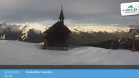 Archived image Webcam Schmittenhöhe: View Chapel 00:00