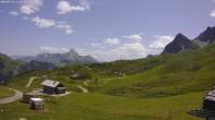 Archiv Foto Webcam Jägeralpe: Blick Biberkopf und Wartherhorn 06:00