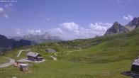 Archiv Foto Webcam Jägeralpe: Blick Biberkopf und Wartherhorn 08:00