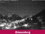 Archiv Foto Webcam Hotel Sonnenberg Hirschegg 18:00