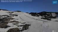 Archiv Foto Webcam Mölltaler Gletscher: Bergstation Panoramabahn Klühspies 22:00