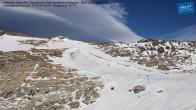 Archiv Foto Webcam Mölltaler Gletscher: Bergstation Panoramabahn Klühspies 10:00