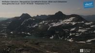 Archiv Foto Webcam Mölltaler Gletscher: Bergstation Gondelbahn Eissee 22:00