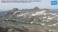 Archiv Foto Webcam Mölltaler Gletscher: Bergstation Gondelbahn Eissee 02:00