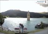 Archiv Foto Webcam Versunkener Turm im Reschensee 10:00