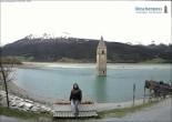 Archiv Foto Webcam Versunkener Turm im Reschensee 06:00