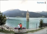 Archived image Webcam The Church Tower in the Lake Resia 06:00