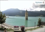 Archived image Webcam The Church Tower in the Lake Resia 08:00