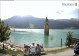 Archived image Webcam The Church Tower in the Lake Resia 10:00