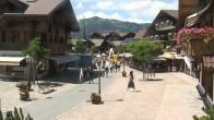 Archiv Foto Webcam Gstaad: Promenade 08:00