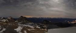 Archiv Foto Webcam Crans Montana: Bergstation Plaine Morte 18:00