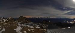 Archiv Foto Webcam Crans Montana: Bergstation Plaine Morte 20:00
