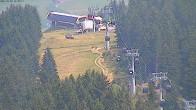 Archiv Foto Webcam Blick vom Bergrestaurant Stiglreith auf Peter Anich Bahn 08:00