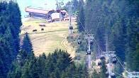 Archiv Foto Webcam Blick vom Bergrestaurant Stiglreith auf Peter Anich Bahn 10:00