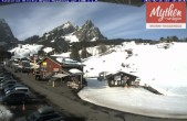 Archiv Foto Webcam Talstation Skilifte Brunni-Haggenegg 04:00