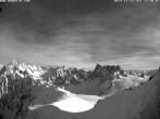Archiv Foto Webcam Der Kamm des Aiguille du Midi 06:00