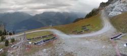 Archiv Foto Webcam Peisey Vallandry - Bergstation Sessellift Clocheret 04:00