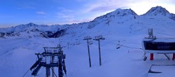 Archiv Foto Webcam Les Arcs - Bergstation Sessellift Arcabulle 02:00