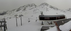Archiv Foto Webcam Les Arcs - Bergstation Sessellift Arcabulle 08:00