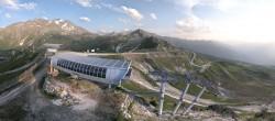 Archiv Foto Webcam Peisey Vallandry - Bergstation Sessellift Arpette 14:00