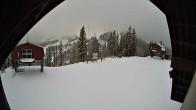 Archiv Foto Webcam Sicht von der Berghütte auf den Kellogg Peak 06:00