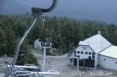 Archived image Webcam Timberline Lodge Ski Area - View Jeff Flood Express 23:00