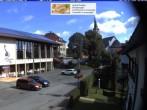 Archiv Foto Webcam Schönwald: Rathaus und Kirche 09:00