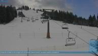 Archived image Webcam Chair Lift Lank in Bödele ski resort 04:00