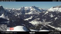 Archiv Foto Webcam Bergstation Buffaure - Vigo di Fassa 04:00