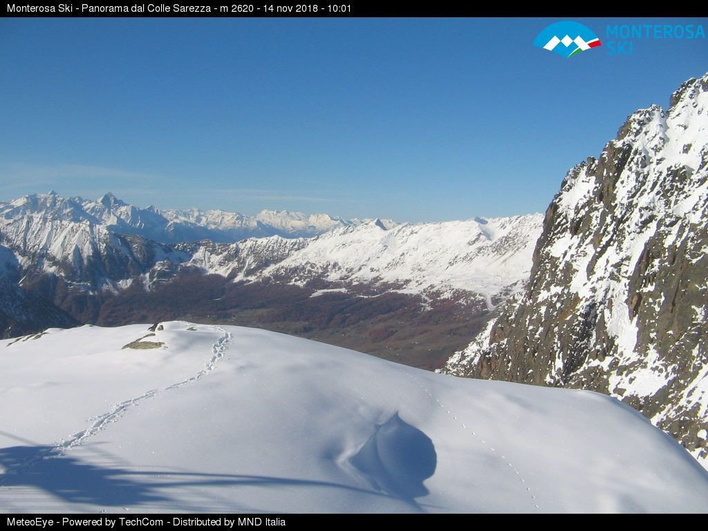 Latest webcam view of Salati pass in the ski resort Champoluc Frachey