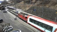 Archived image Webcam train station of Filisur 09:00