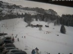 Archiv Foto Webcam Blick auf die Talabfahrt der Skilifte Bumbach - Schnagnau 08:00