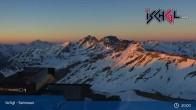 Archived image Webcam Summit of Palinkopf (2.864 m) - Ischgl 21:00