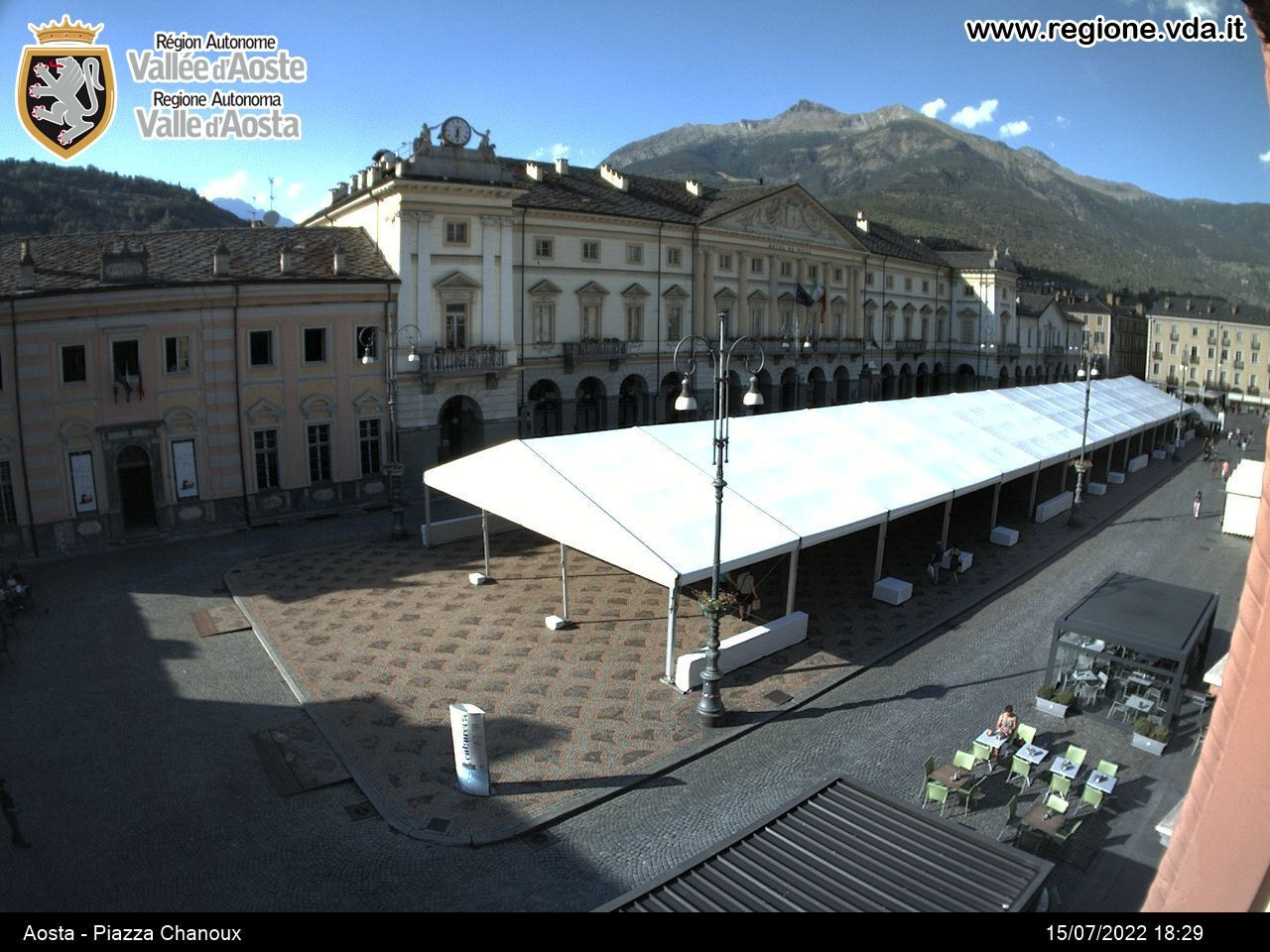 Webcam Aosta Piazza Chanoux 588 M Aosta And