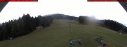 Base station of skiing area