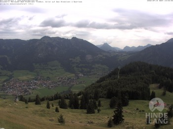 Bergstation Hornbahn, Blick Bad Hindelang