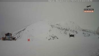 Bergstation im Kicking Horse Ski Resort beim Crystal Bowl