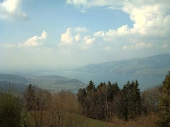 Blaukreuz Aeschiried Ferienzentrum. Altitude 1'100. Point of view: north-west