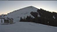 Blick auf den Gipfel des Skigebietes La Berra
